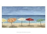 "Ocean Umbrellas I by Megan Meagher - 13"" x 10"", FulcrumGallery.com brand"