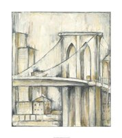 "Urban Bridgescape I by Jennifer Goldberger - 32"" x 36"""