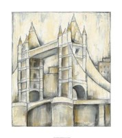"Urban Bridgescape II by Jennifer Goldberger - 32"" x 36"", FulcrumGallery.com brand"