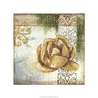 "Globeflower Fresco II by Megan Meagher - 22"" x 22"""