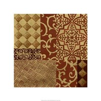 Henna Patterns On Gold I Giclee