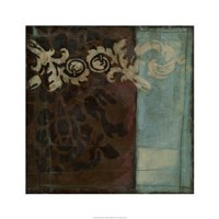 "Damask Tapestry I by Jennifer Goldberger - 24"" x 24"", FulcrumGallery.com brand"