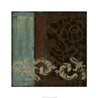 "Damask Tapestry II by Jennifer Goldberger - 24"" x 24"", FulcrumGallery.com brand"