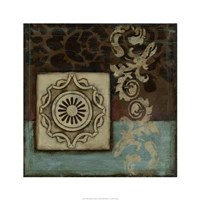 "Damask Tapestry Wrosette I by Jennifer Goldberger - 24"" x 24"", FulcrumGallery.com brand"