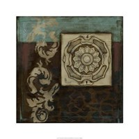 "Damask Tapestry Wrosette II by Jennifer Goldberger - 24"" x 24"", FulcrumGallery.com brand"