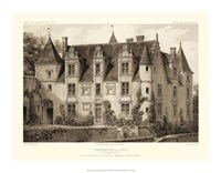 "Petite Sepia Chateaux III by Victor Petit - 18"" x 14"""