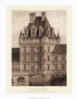 "Petite Sepia Chateaux VIII by Victor Petit - 14"" x 18"""