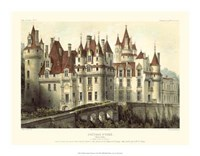 "Petite French Chateaux VII by Victor Petit - 18"" x 14"""