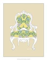 """Decorative Chair II by Chariklia Zarris - 14"""" x 18"""""""