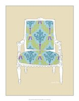 "Decorative Chair III by Chariklia Zarris - 14"" x 18"""