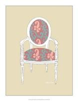 """Decorative Chair IV by Chariklia Zarris - 14"""" x 18"""""""