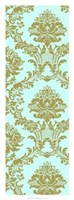 "Vivid Damask In Gold II by Vision Studio - 14"" x 38"""