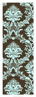 "Vivid Damask In Blue I by Vision Studio - 14"" x 38"""