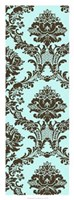 "Vivid Damask In Blue II by Vision Studio - 14"" x 38"""