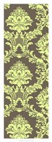 "Vivid Damask In Green I by Vision Studio - 14"" x 38"""