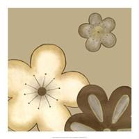 Pop Blossoms In Neutral I Framed Print