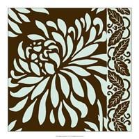 "Striking Chrysanthemums I by Nancy Slocum - 18"" x 18"""