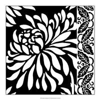 "Graphic Chrysanthemums I by Nancy Slocum - 18"" x 18"""