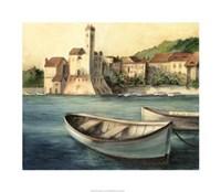 Mediterranean Harbor II Framed Print