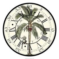 "Antique Palm Clock by Vision Studio - 22"" x 22"""