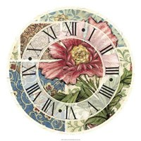"""Cottage Rose Clock by Vision Studio - 22"""" x 22"""""""