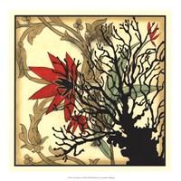 "Coral Tapestry I by Jennifer Goldberger - 17"" x 17"""