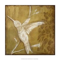 """Wings and Damask II by Gerard Paul Deshayes - 15"""" x 15"""""""