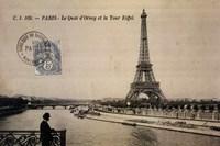 """Le Quai d'Orsay et la Tour Eiffel by Gerard Paul Deshayes - 36"""" x 24"""""""