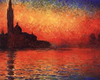 San Giorgio Maggiore at Twilight (Dusk in Venice), 1908 by Claude Monet, 1908 - various sizes - $12.99
