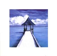 "Maldives - Hut by Gerard Paul Deshayes - 16"" x 16"""