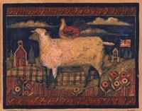 "Farmhouse Sheep by Susan Winget - 10"" x 8"""