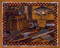 """Eli's Fishing Gear by Susan Winget - 10"""" x 8"""""""