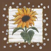 "Polka Dot Sunflower by Bonnee Berry - 6"" x 6"", FulcrumGallery.com brand"