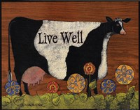 "Live Well Cow by Lisa Hilliker - 10"" x 8"""