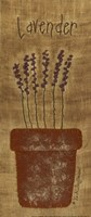 """Stitched Lavender by Vicki Huffman - 5"""" x 12"""""""