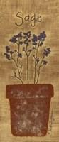 "Stitched Sage by Vicki Huffman - 5"" x 12"""