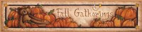 "Fall Gatherings by Mary Ann June - 18"" x 4"""