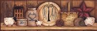 """Shelf Gathering by April Harrison - 30"""" x 10"""""""