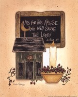 """Serve The Lord by Linda Spivey - 8"""" x 10"""" - $9.99"""