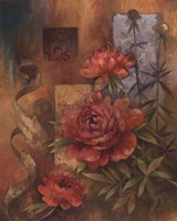 "Peony Montage by Elaine Vollherbst-Lane - 16"" x 20"""