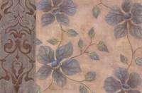 Blue Damask Romance I Fine Art Print