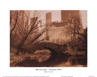 Reflections - Central Park Framed Print