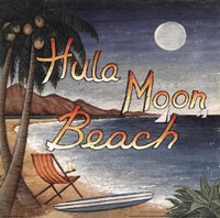 Hula Moon Beach Framed Print