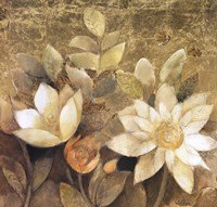 "Gilded Waterlilies II by Albena Hristova - 24"" x 24"""