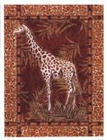 Lone Giraffe Fine Art Print