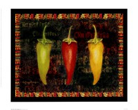 """Red Hot Chili Peppers II by Kathleen Denis - 12"""" x 10"""""""