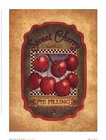 Sweet Cherry Pie Filling Framed Print