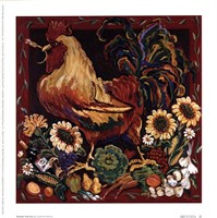 "7"" x 7"" Rooster Pictures"