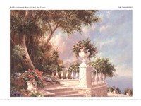 "Balcony At Lake Como by Art Fronckowiak - 8"" x 6"""