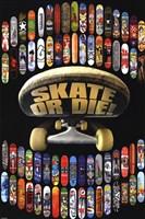 """Skate Or Die by Peggy Abrams - 24"""" x 36"""" - $9.99"""